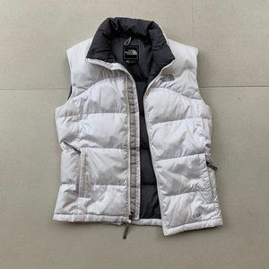 THE NORTH FACE white down puffer vest